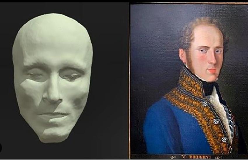 II vero volto di Vincenzo Bellini ricostruito da ricercatori dell'Università di Catania