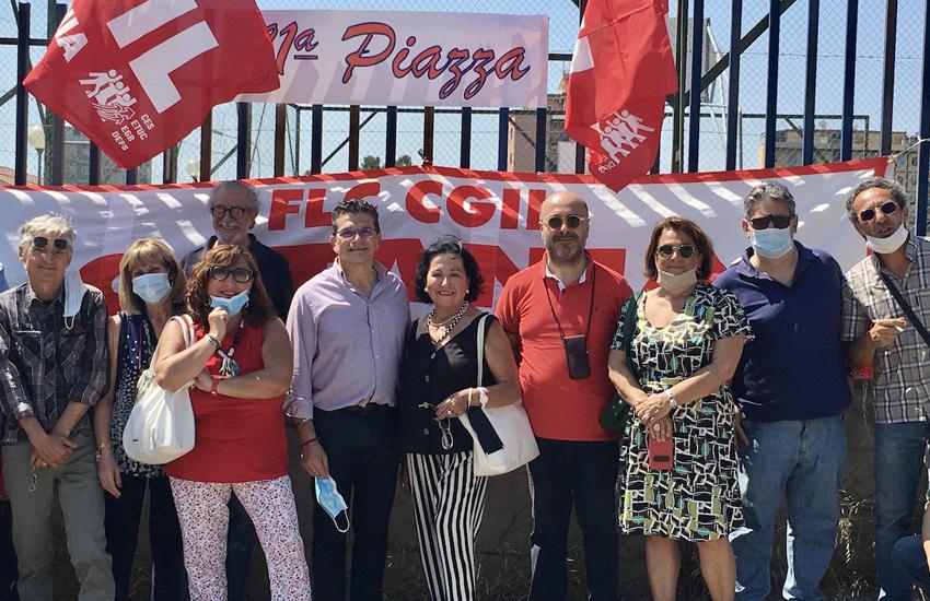Cgil e Flc Cgil in piazza anche a Catania per chiedere riapertura delle scuole a settembre in sicurezza