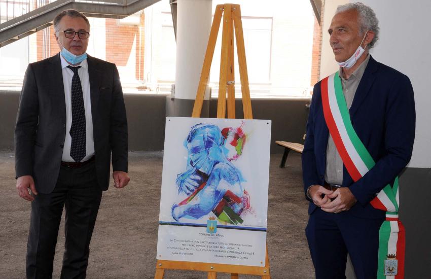 La città di Latina omaggia gli eroi della lotta al Covid-19