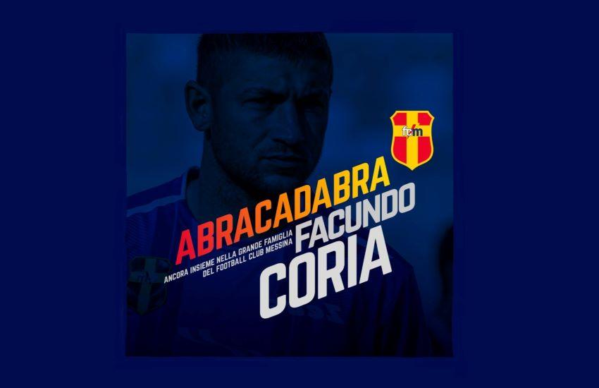 """FC Messina conferma il """"mago"""" Facundo Gabriel Coria"""