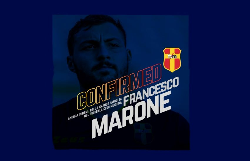 FC Messina conferma Francesco Marone