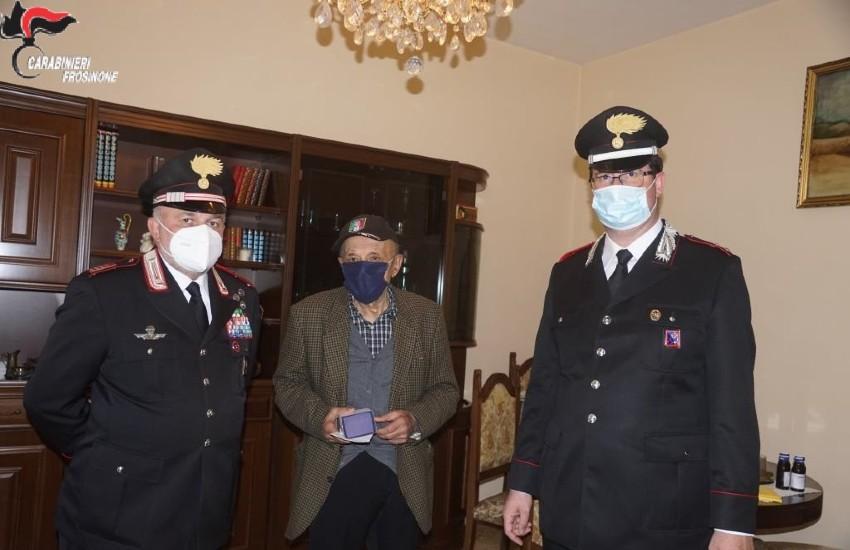 Sora festeggia il decano di tutti i carabinieri: nonno Angelo compie 102 anni