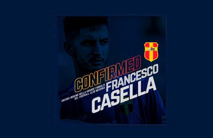 FC Messina, confermato il difensore under Francesco Casella