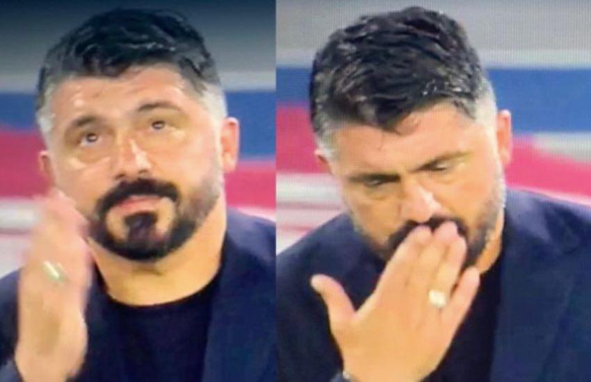"""Ringhio Gattuso e quella dedica """"speciale"""" in una notte di festa"""