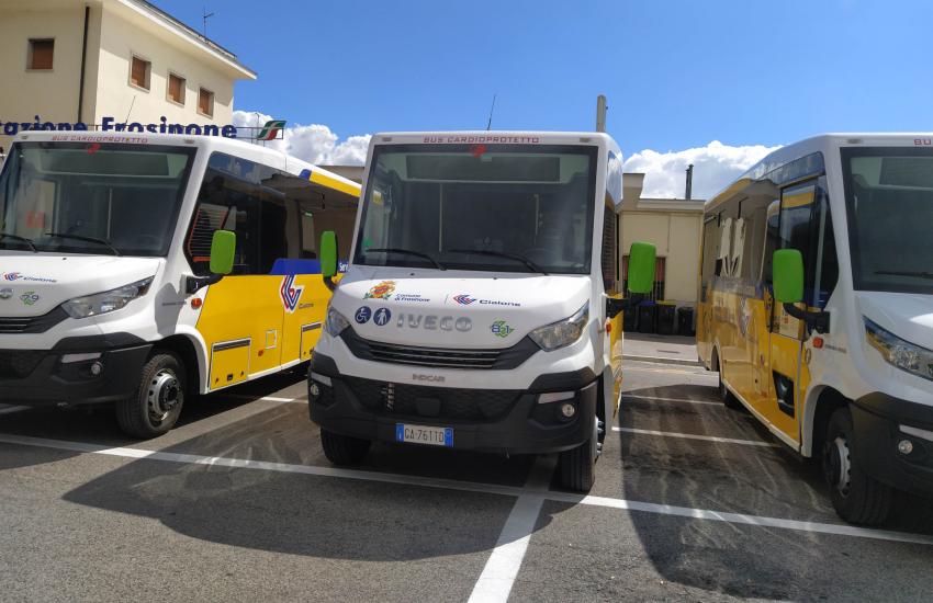 Presentata la nuova flotta del trasporto pubblico di Frosinone