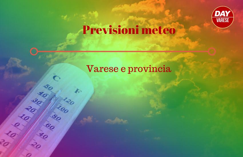 Meteo Varese, le previsioni per mercoledì 29 luglio