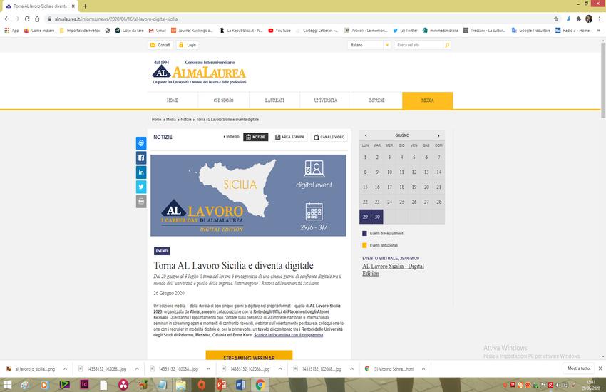 Al Lavoro Sicilia – Digital edition con le Università siciliane
