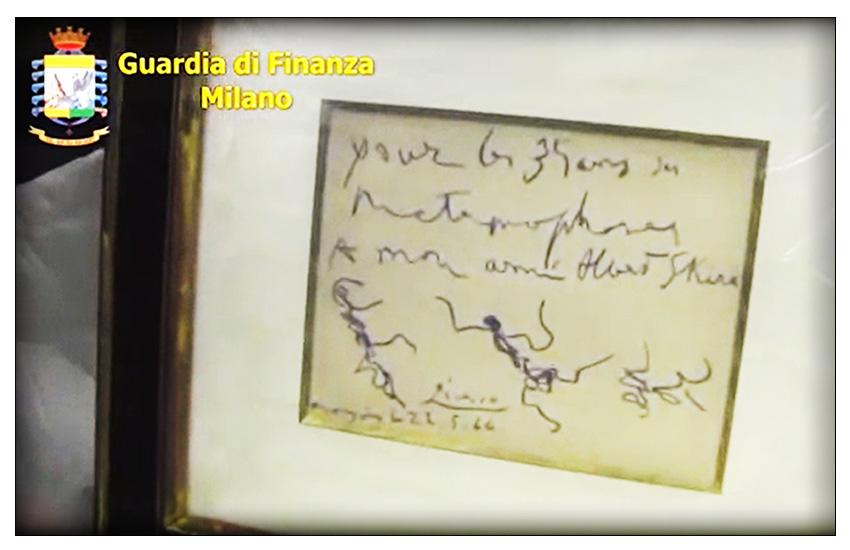 MILANO:  nucleo di polizia economico-finanziaria della GDF  effettua un maxi sequestro di beni, fra cui dei dipinti di Picasso.