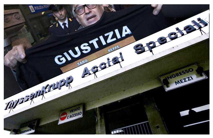 Thyssen Krupp: il procuratore generale di Torino parla di carcere imminente per i due tedeschi condannati.