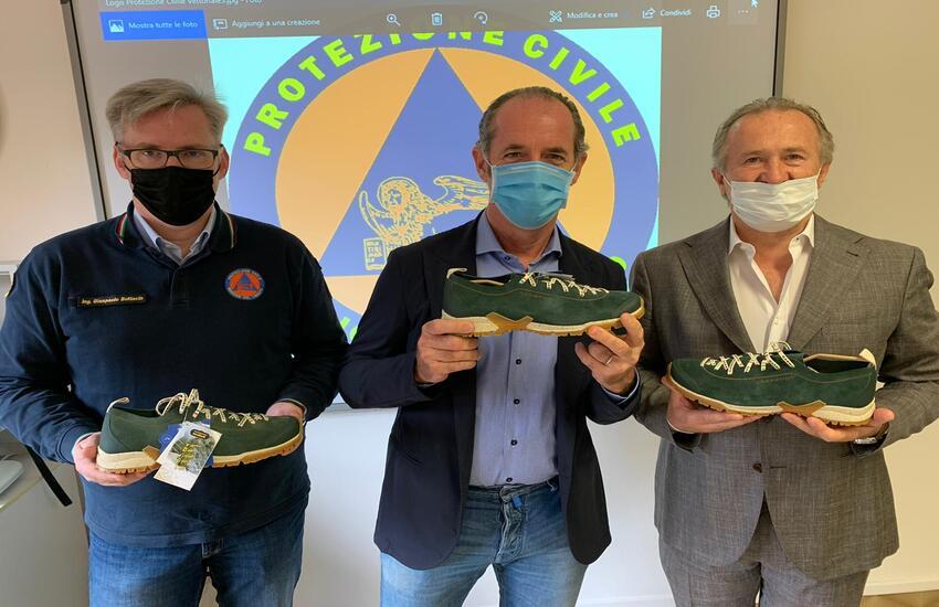 Dalla trevigiana Garmont 200 paia di scarpe a Protezione Civile