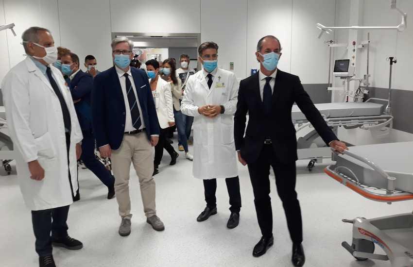 Zaia inaugura la nuova Rianimazione e il Gruppo Operatorio a Feltre
