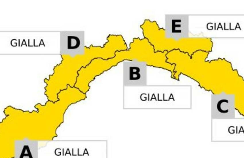 Liguria: Arpal prolunga allerta meteo su Levante ligure