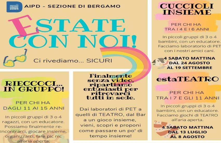 """Bergamo, Estate con Noi: """"i down non saranno lasciati soli"""""""
