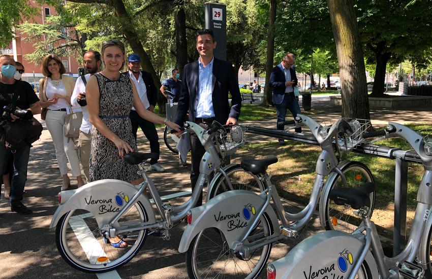 Bike sharing: a Verona 18 nuove stazioni e 170 bici in più.