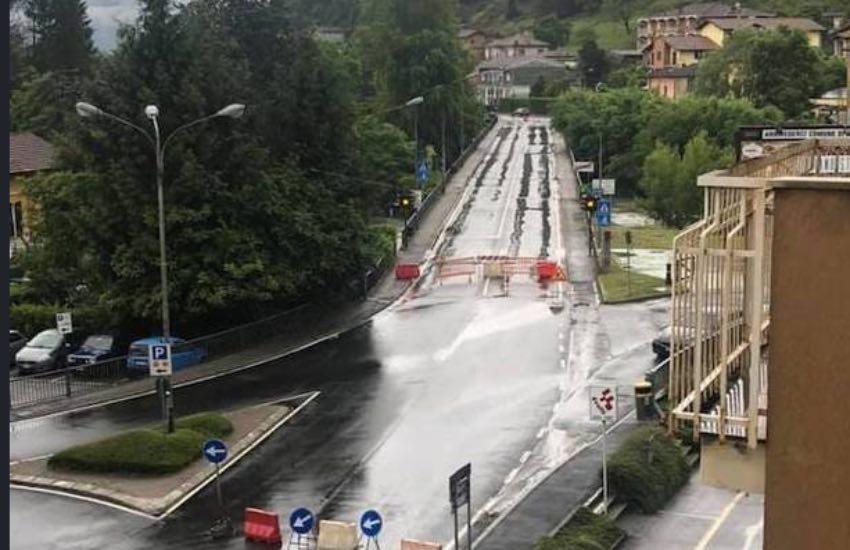Luino, piogge incessanti: preoccupazioni in crescita per il ponte sul Tresa