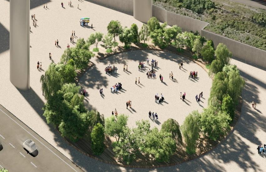 Ponte di Genova, 43 alberi per ricordare le vittime. Bucci: «Prende forma la radura della memoria »