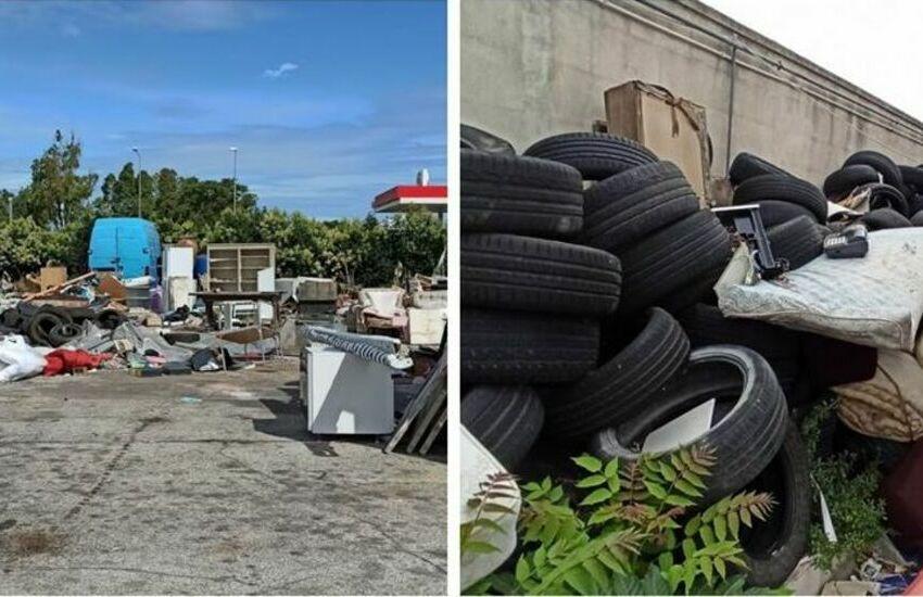 Ventimila metri quadri di rifiuti nella zona industriale: due denunce per raccolta e gestione abusive