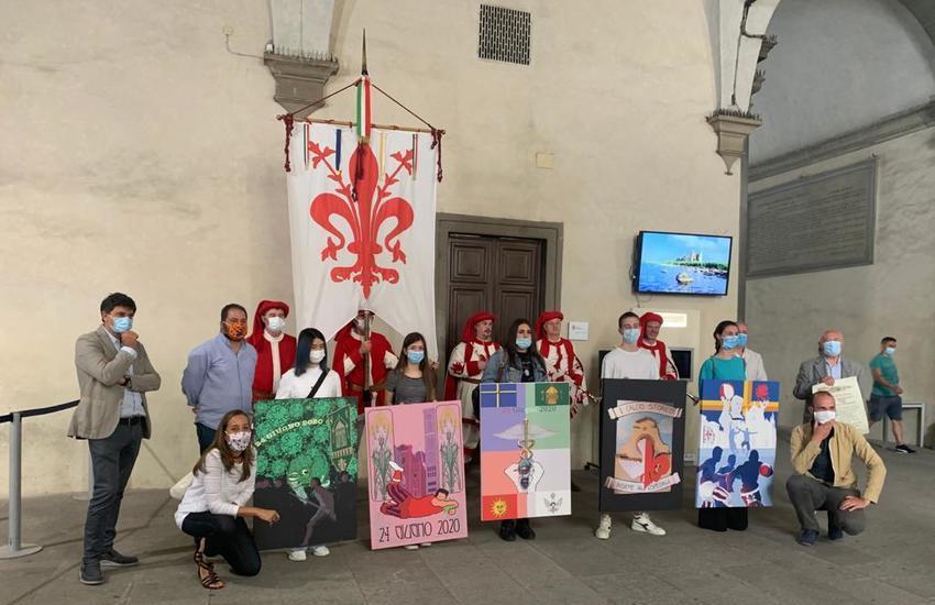 'San Giovanni solidale': Calcio in costume  Corteo Storico della Repubblica Fiorentina rendono omaggio a sanità e volontariato
