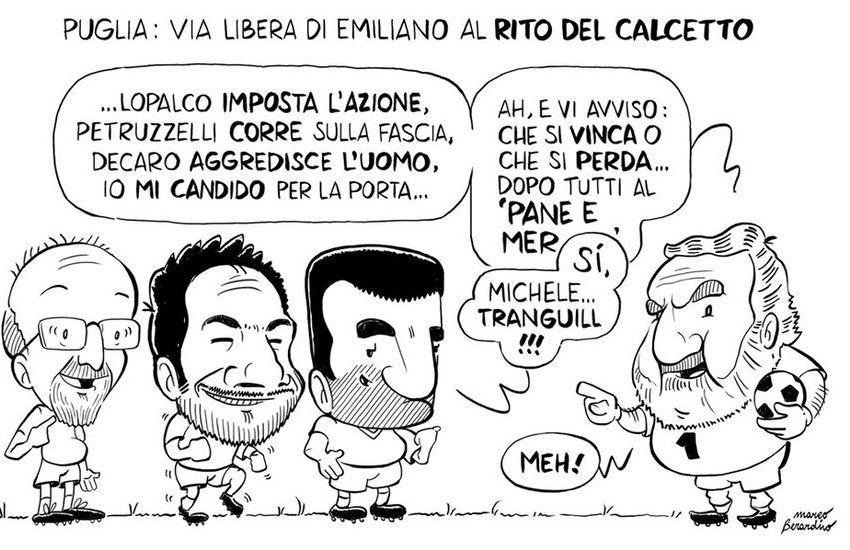 """Puglia, tornano le """"partitelle"""" di calcetto. E la satira porta in campo gli enti locali"""