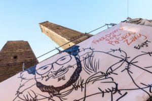 Maratona artistica per Patrick Zaky a Bologna