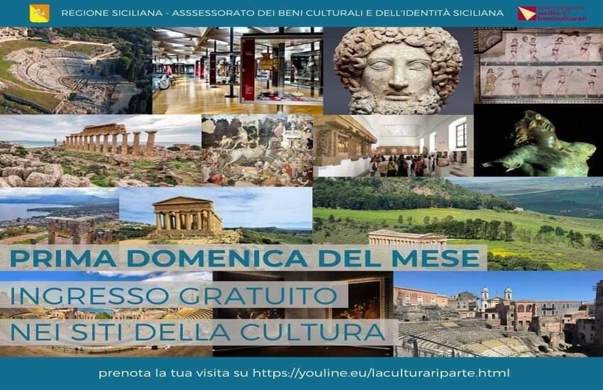 Domenica ingresso gratuito in musei e luoghi della cultura