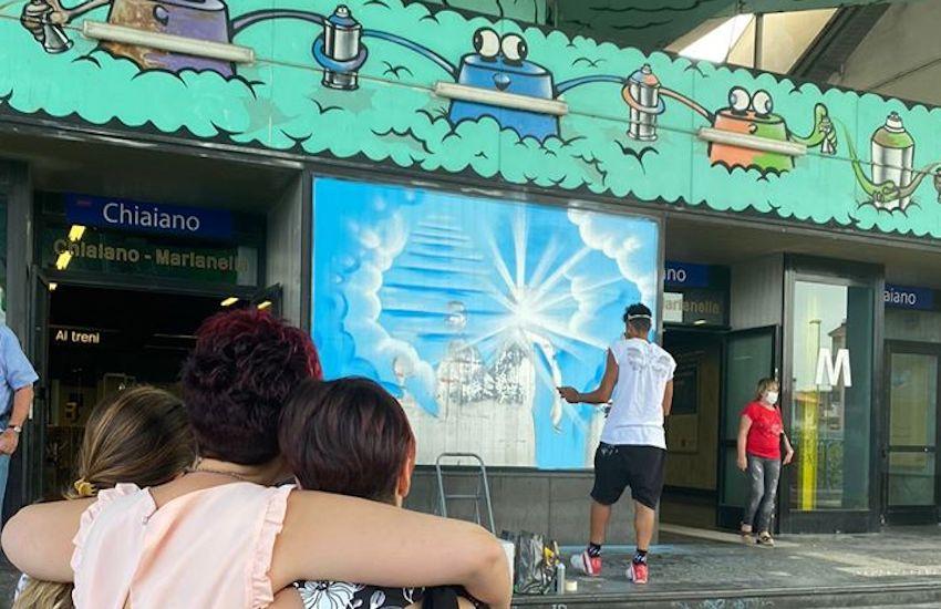 Chiaiano, consegnato il murales dedicato alla memoria di Ulderico Esposito