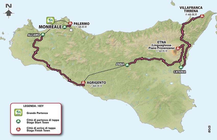 Giro d'Italia in Sicilia: manutenzione strade con un Piano da 4 mln