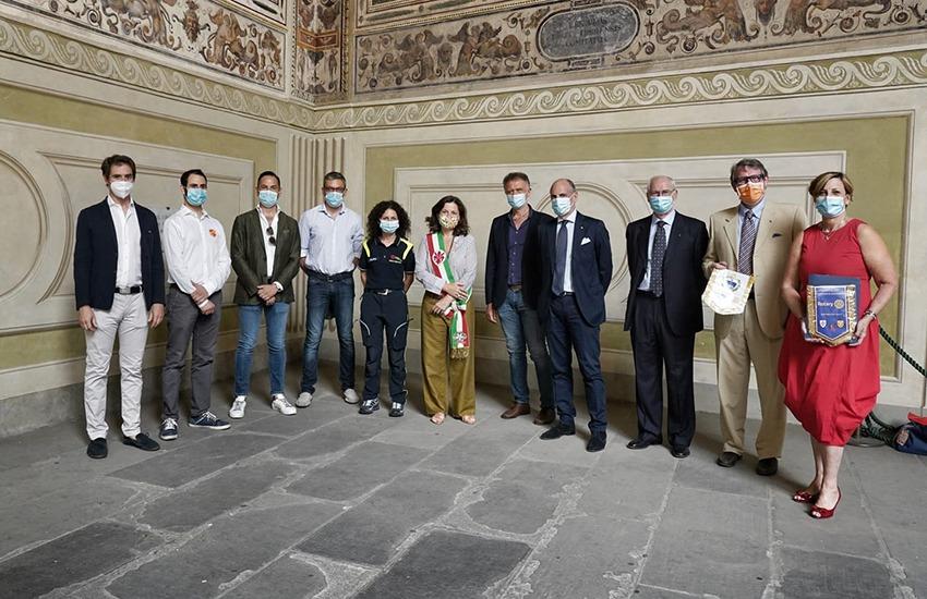 Ringraziati in Palazzo Vecchio i donatori della Protezione civile