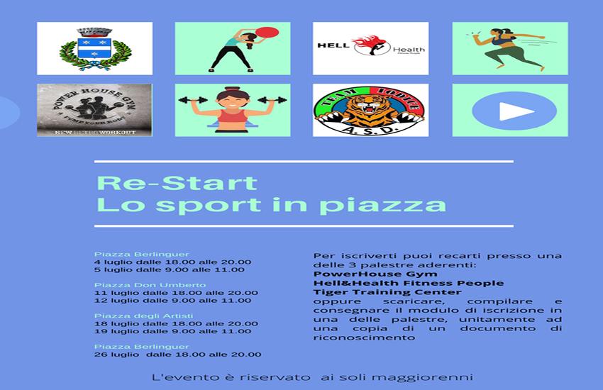 Re-Start: lo sport in piazza a Portico di Caserta