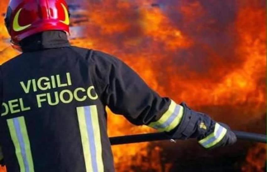 Incendio in corso località Fiorentina