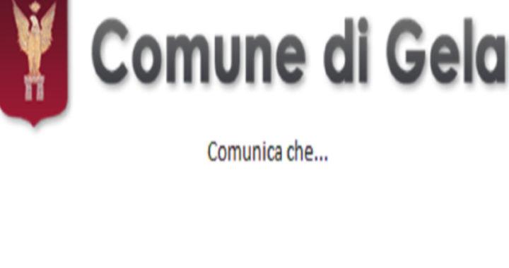Il Comune di Gela comunica