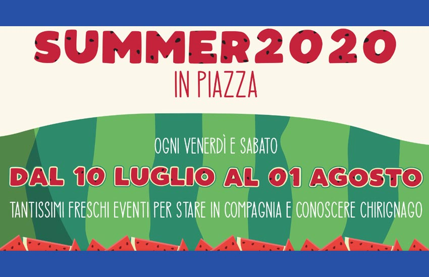 """Chirignago, dal 10 luglio al primo agosto """"Summer 2020"""""""
