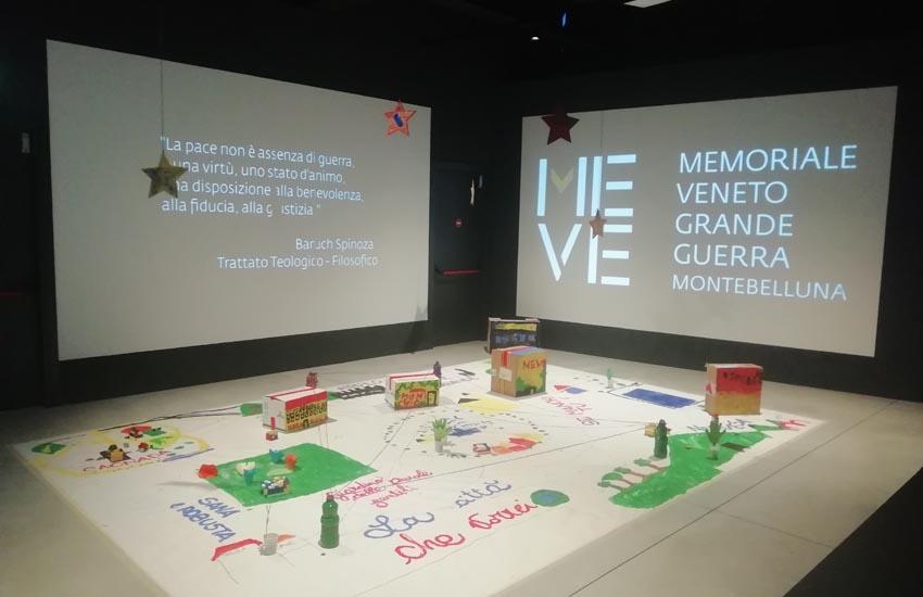 21 bambini delle scuole primarie, divisi in tre gruppi, hanno realizzato in alcune sale del MeVe tre città ideali