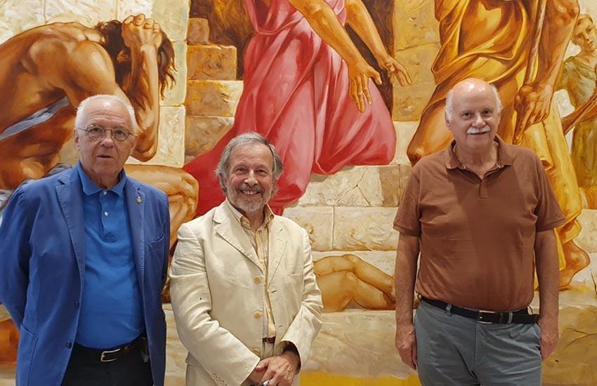 50 le opere in esposizione dell'artista Sergio Favotto con bozzetti e disegni che raccontano 60 anni della sua vita pittorica monumentale e devozionale