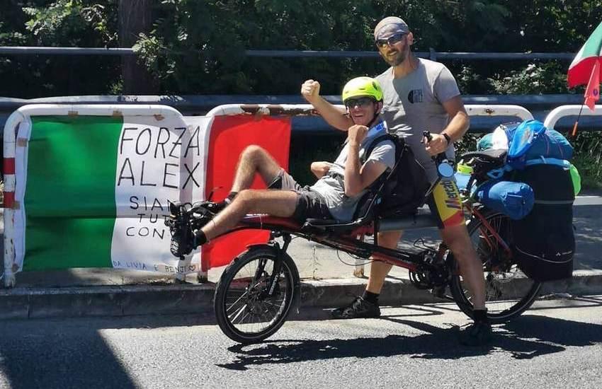 PedalAbile, via Francigena: Roberto e Riccardo in tandem