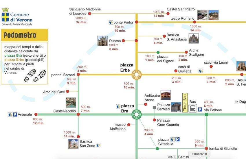 Dalla polizia locale una mappa per visitare Verona a piedi