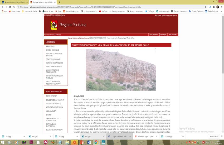 Dissesto idrogeologico, Fase 2 per Monte Gallo