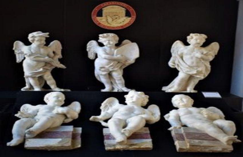 """Gli """"angeli"""" di Nola tornano a casa, restituite alle Diocesi 6 statue del XVIII secolo"""