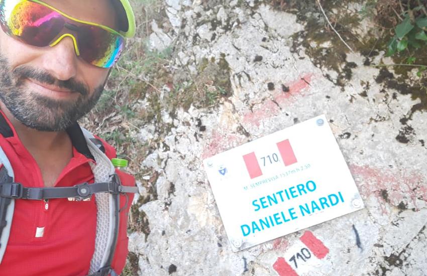 Una promessa è una promessa: Simone Leo in cima al Semprevisa per onorare l'amico Daniele Nardi