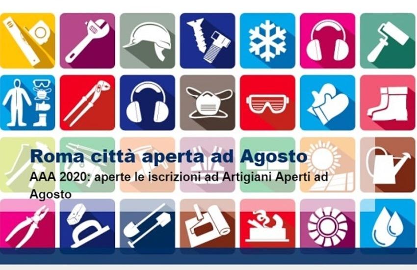 Roma città aperta, ecco gli elenchi di artigiani, commercianti e servizi aperti ad agosto