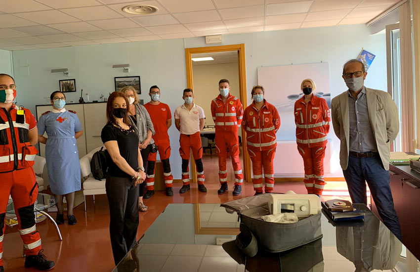 La ASL riceve in donazione 3 ventilatori polmonari forniti dalla CRI