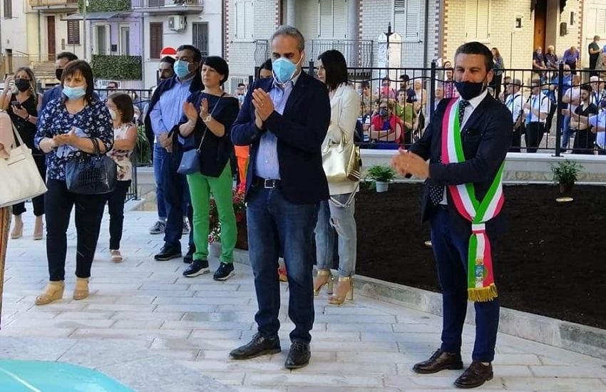 Caposele – Inaugurata piazza della Sorgente, Petracca: una giornata storica