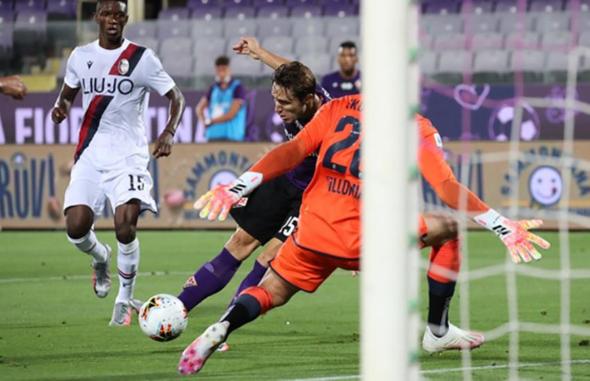 Super Chiesa: 3 gol per il 4-0 della Fiorentina al Bologna