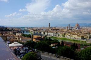 Restauro per il monumento a Michelangelo (del piazzale omonimo)
