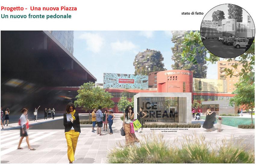 Urbanistica: Nuovo look per il piazzale davanti alla stazione Garibaldi