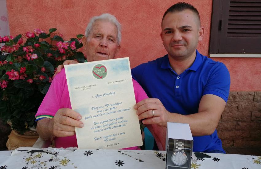L'omaggio de 'Il Casale' e 'Cuori Setini' per i 90 anni di nonno Gino
