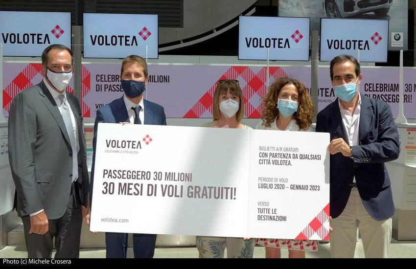 VOLOTEA, A VENEZIA 30 MLN DI PASSEGGERI TRASPORTATI