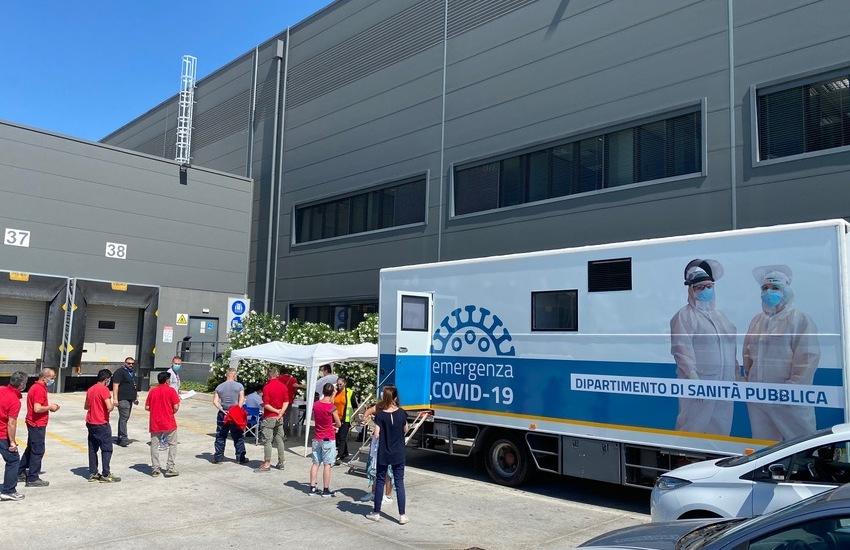 """""""Interporto sicuro"""" Bologna: test sierologici e tamponi agli operatori"""