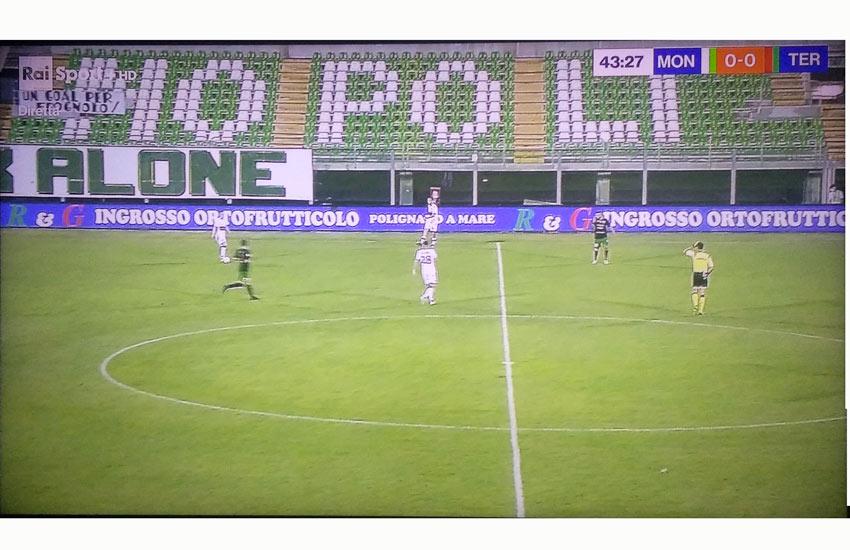 Monopoli battuto 1-0 dalla Ternana, si infrangono i sogni di promozione