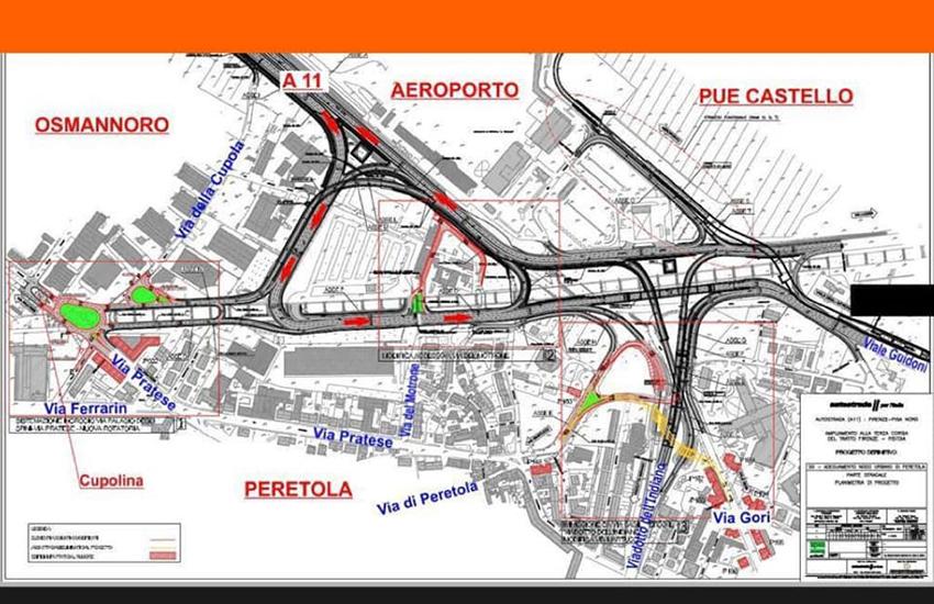 Sbloccare la bretella di Peretola e far ripartire i lavori per 30 milioni di euro